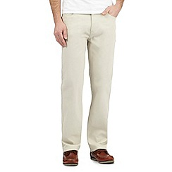 Maine New England - Big and tall beige bedford trousers
