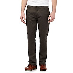 Maine New England - Dark green straight fit trousers
