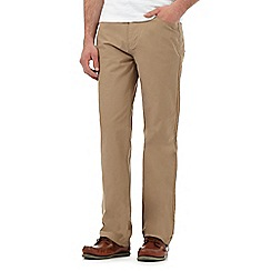 Maine New England - Big and tall beige five pocket trousers