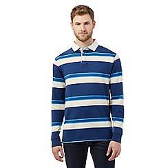 Maine New England - Big and tall navy striped rugby shirt