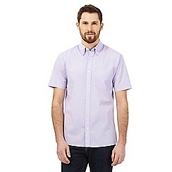 Maine New England - Lilac textured check shirt
