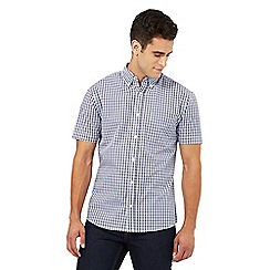 Maine New England - Purple gingham checked print shirt