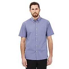 Maine New England - Big and tall lilac mini checked print shirt