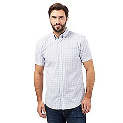 Maine New England - Big and tall white checked shirt