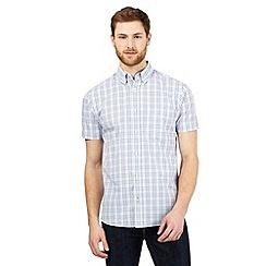 Maine New England - Big and tall navy checked print shirt