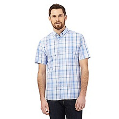 Maine New England - Big and tall blue and pink checked print shirt