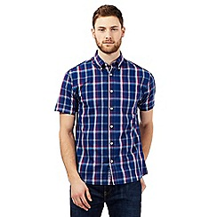 Maine New England - Navy checked print shirt