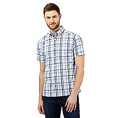 Maine New England - Pale blue checked print shirt