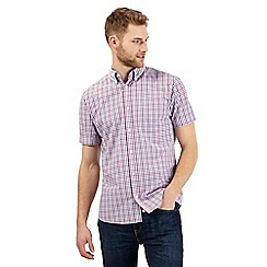Maine New England - Big and tall Rose Double grid check short sleeve shirt