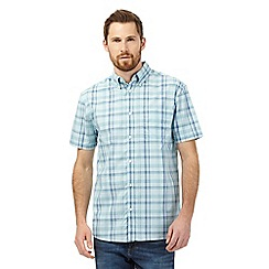 Maine New England - Pale green checked print shirt