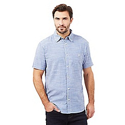 Maine New England - Big and tall blue chambray striped print shirt