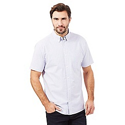Maine New England - White chambray striped print shirt