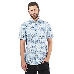 Maine New England - Blue tropical print shirt