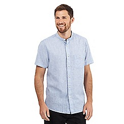 Maine New England - Big and tall pale blue granddad shirt