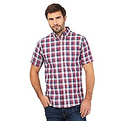 Maine New England - Big and tall red bold checked shirt