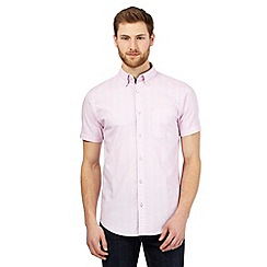 Maine New England - Big and tall pink textured stripe tailored shirt
