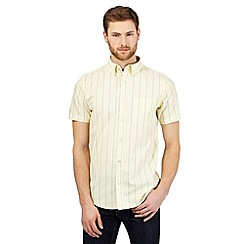 Maine New England - Yellow textured stripe tailored shirt