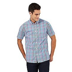 Maine New England - Big and tall multi-coloured gingham print shirt