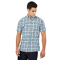 Maine New England - Big and tall green and blue gingham print shirt