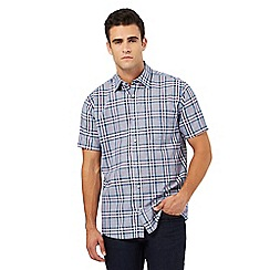 Maine New England - Big and tall purple checked print shirt
