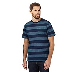 Maine New England - Big and tall navy striped print t-shirt