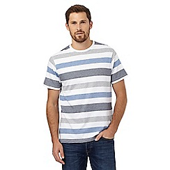Maine New England - White striped print t-shirt