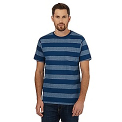 Maine New England - Blue striped print t-shirt