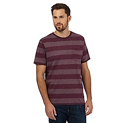 Maine New England - Red striped print t-shirt