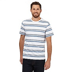 Maine New England - White herringbone stripe t-shirt