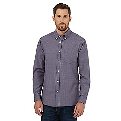 Maine New England - Big and tall blue checked print regular fit shirt