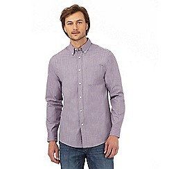 Maine New England - Big and tall light purple textured tailored fit shirt