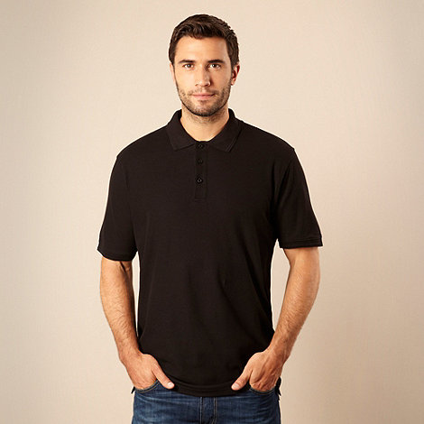 Maine New England - Big and tall black pique polo shirt