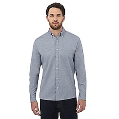Maine New England - Big and tall grey marl effect regular fit shirt