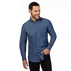 Maine New England - Navy circle print regular fit shirt