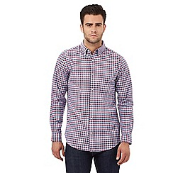 Maine New England - Big and tall blue gingham print tailored fit shirt