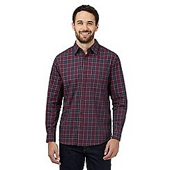 Maine New England - Red check print buttoned shirt
