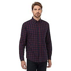 Maine New England - Navy checked regular fit shirt