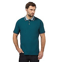 Maine New England - Big and tall green jacquard polo shirt