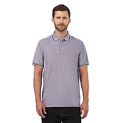 Maine New England - Purple textured polo shirt