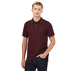 Maine New England - Big and tall dark red tipped polo shirt
