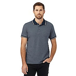 Maine New England - Dark green textured twin tipped polo shirt