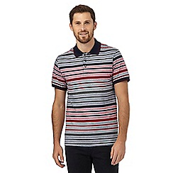 Maine New England - Red striped print polo shirt