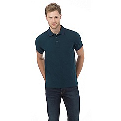 Maine New England - Green textured tipped tailored fit polo shirt