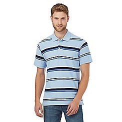 Maine New England - Big and tall light blue striped polo shirt