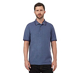 Maine New England - Big and tall purple textured tailored fit polo shirt