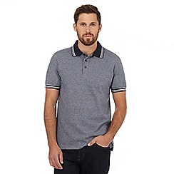Maine New England - Navy micro diamond tailored fit polo shirt
