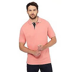Maine New England - Peach contrast placket polo shirt