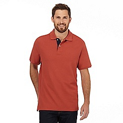Maine New England - Dark orange contrast placket polo shirt