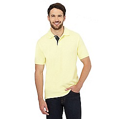 Maine New England - Yellow contrast placket polo shirt