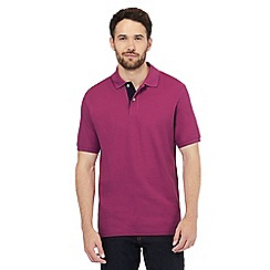 Maine New England - Pink contrast placket polo shirt